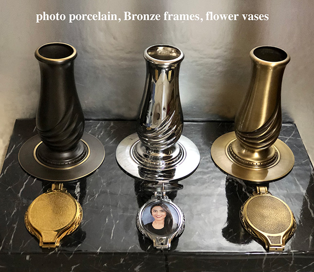 Bronze vases for graves